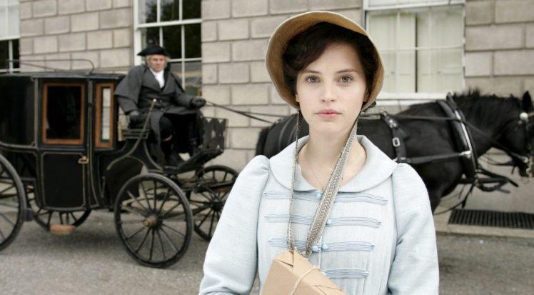Felicity Jones, Actress, Women, Green eyes, Northanger Abbey HD Wallpaper Desktop Background