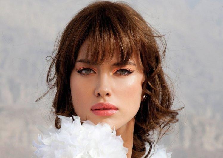 Irina Shayk, Women, Model, Face, Brunette HD Wallpaper Desktop Background