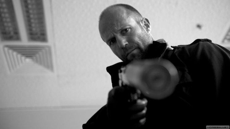 Jason Statham, Machine gun HD Wallpaper Desktop Background