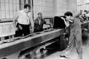 Modern Times, Charlie Chaplin, Film stills, Monochrome