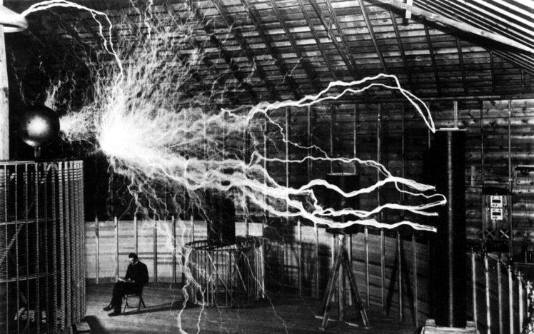 Nikola Tesla, Scientists, Electricity, Thunderbolt HD Wallpaper Desktop Background
