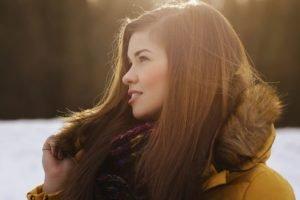 women, Model, Sun rays, Brunette