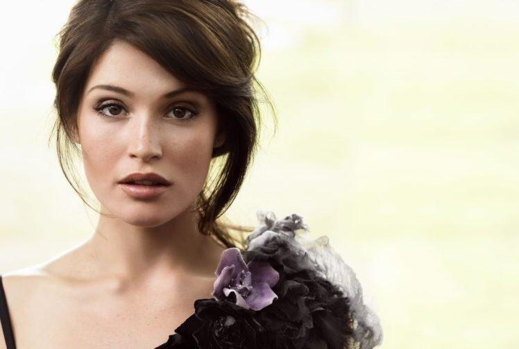 Gemma Arterton, Women, Model, Brunette, Brown eyes HD Wallpaper Desktop Background