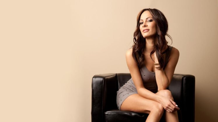 Kenda Perez, Brunette, Dress, Minidress, Legs, Legs together, Long hair, Cleavage, Women HD Wallpaper Desktop Background