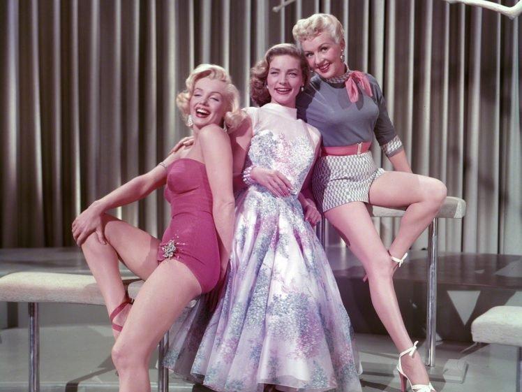 Marilyn Monroe, Lauren Bacall, Actor, Movies, Vintage HD Wallpaper Desktop Background