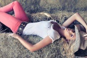 jeans, Women, Blonde