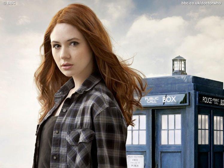 Karen Gillan, Doctor Who, TARDIS, Amy Pond HD Wallpaper Desktop Background