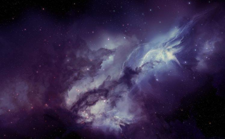 space art, Space, Purple HD Wallpaper Desktop Background