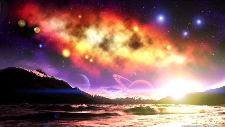 space art, Digital art, Landscape HD Wallpaper Desktop Background