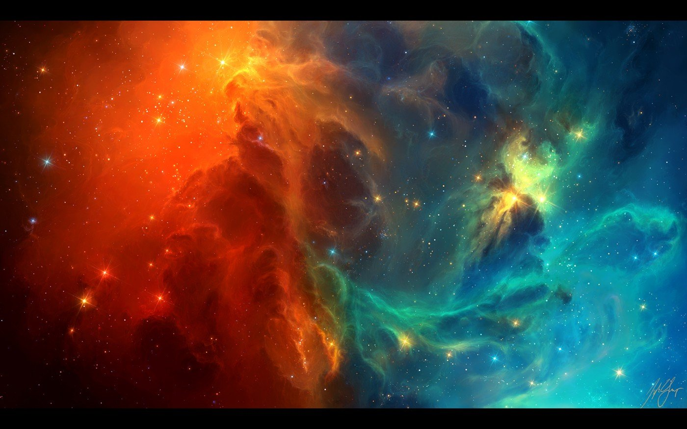 TylerCreatesWorlds, Space, Space art, Nebula, Stars, Galaxy, Digital art Wallpaper