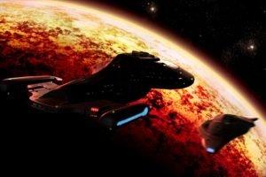 Star Trek, USS Voyager, Spaceship, Space