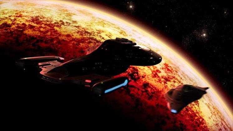Star Trek Uss Voyager Spaceship Space Hd Wallpapers