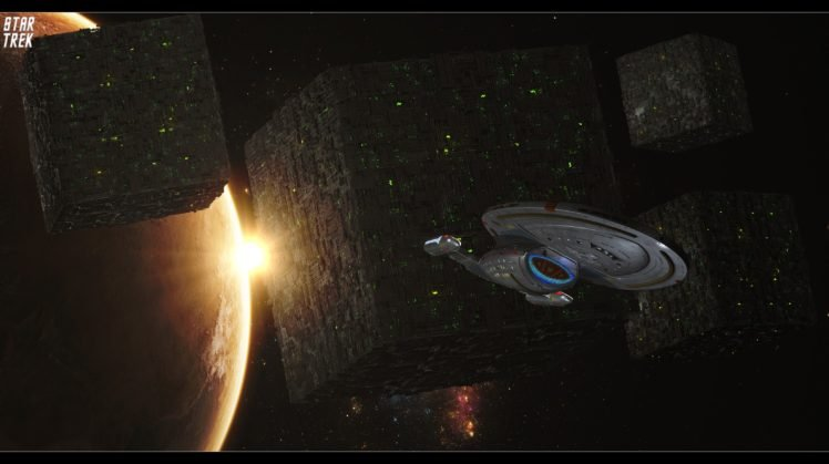 Star Trek Uss Voyager Borg Space Hd Wallpapers Desktop And Mobile Images Photos