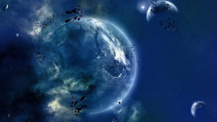 planet, Digital art, Space art, Space HD Wallpaper Desktop Background