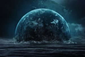 space art, Planet, Space, Sea, Digital art