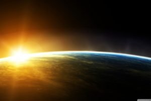 Earth, Sunrise, Space