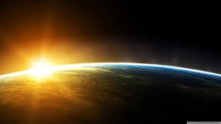 Earth, Sunrise, Space HD Wallpaper Desktop Background