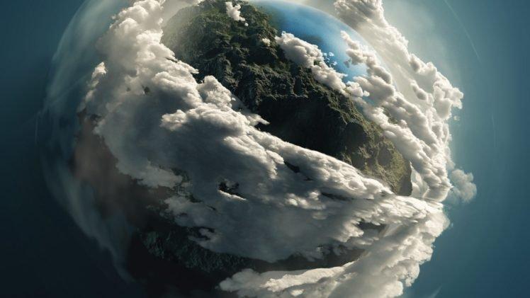 digital art, Space art, Planet, Clouds HD Wallpaper Desktop Background