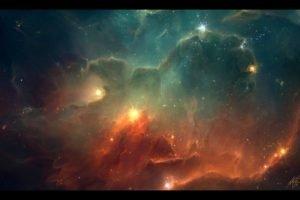 TylerCreatesWorlds, Space, Space art, Digital art, Artwork, Stars, Nebula