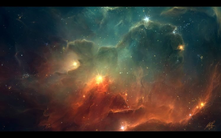 TylerCreatesWorlds, Space, Space art, Digital art, Artwork, Stars, Nebula HD Wallpaper Desktop Background