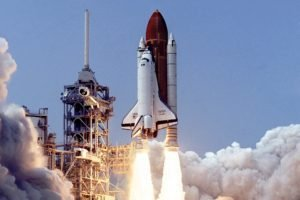 Space Shuttle Atlantis, NASA, Launch pads, Scanned image