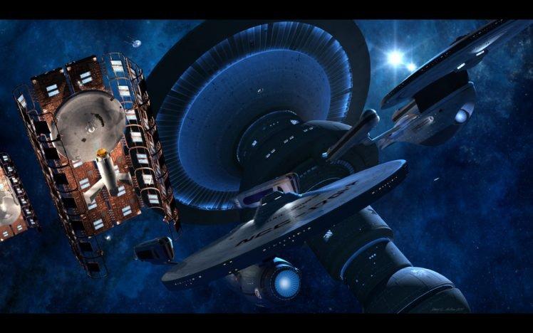 Star Trek Uss Enterprise Spaceship Uss Excelsior Space