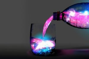 bottles, Drinking glass, Colorful, Space