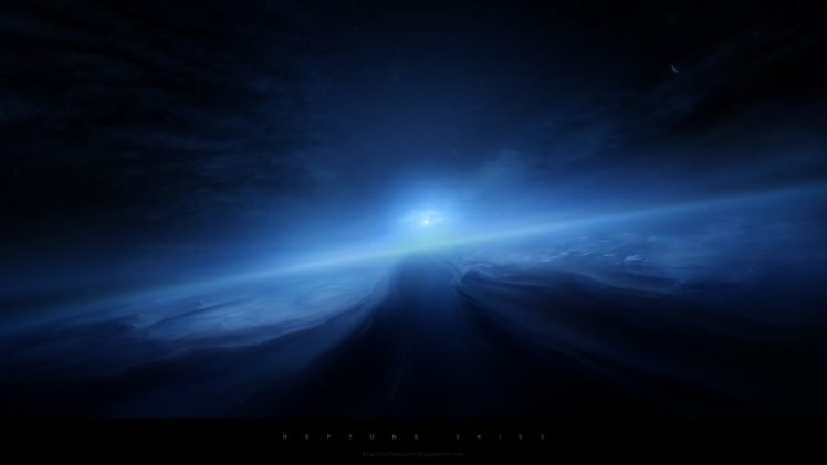 blue, Drawing, Space HD Wallpaper Desktop Background
