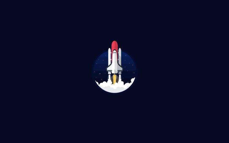 space shuttle, Minimalism, NASA HD Wallpaper Desktop Background