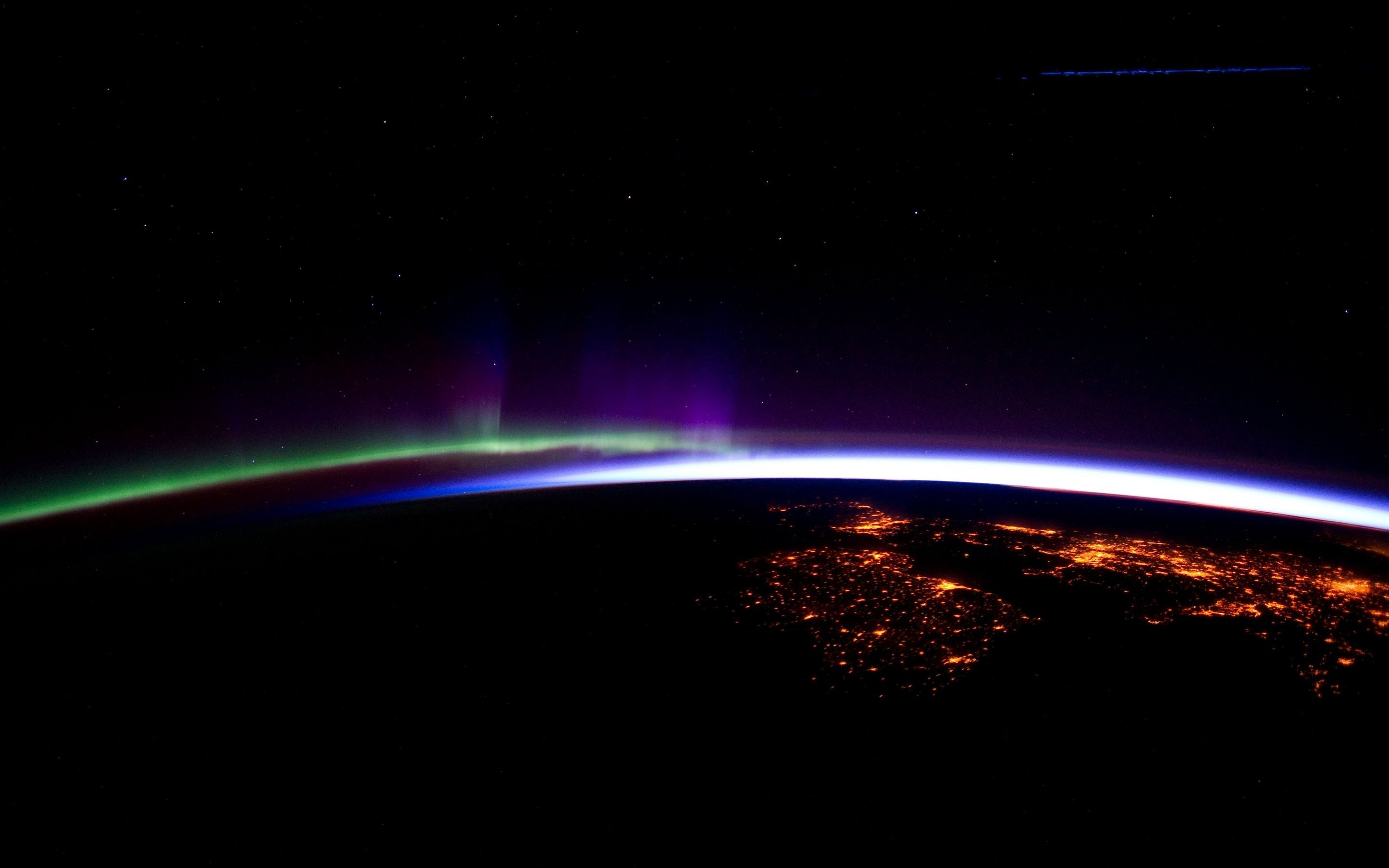 photography  space  earth  horizon  lights  aurorae hd