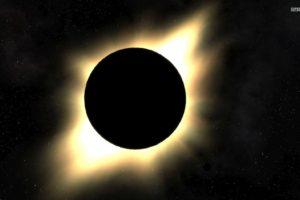 space, Solar eclipse