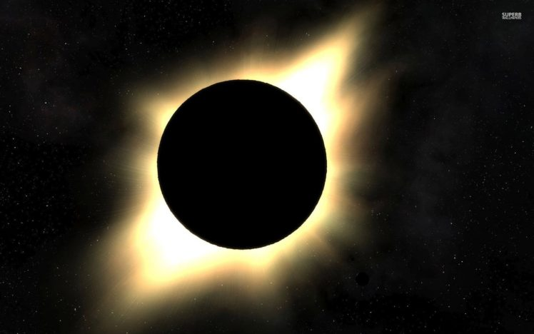 space, Solar eclipse HD Wallpaper Desktop Background