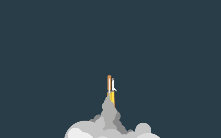 Drawing Space Shuttle Minimalism Hd Wallpapers Desktop And