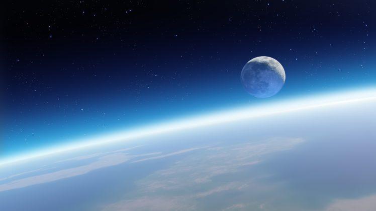 space, Earth, Moon HD Wallpaper Desktop Background