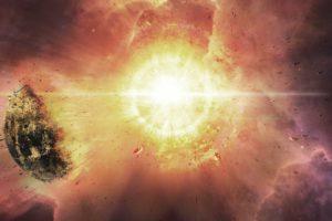 space, Sun, Stars, Nebula, Planet, Explosion