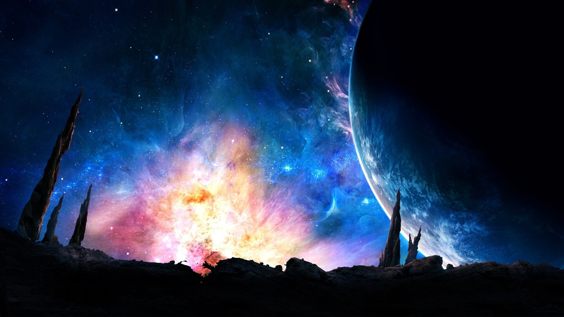 science fiction, Planet, Space Wallpaper