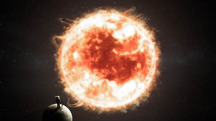 astronaut, Embryo, Space, Stars, Planet, Rose, Life, The little prince, Sun HD Wallpaper Desktop Background