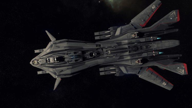 Star Citizen, Retaliator, Space, Spaceship, Robert Space Industries, Aegis Dynamics HD Wallpaper Desktop Background