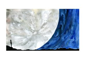 reca, Space art, Watercolor, Moon, Cosmos: A Spacetime Odyssey, Illustration, Space