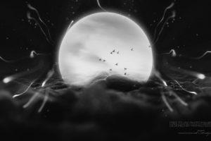 Moon, Photo manipulation, IT design, Space art, Graphic design