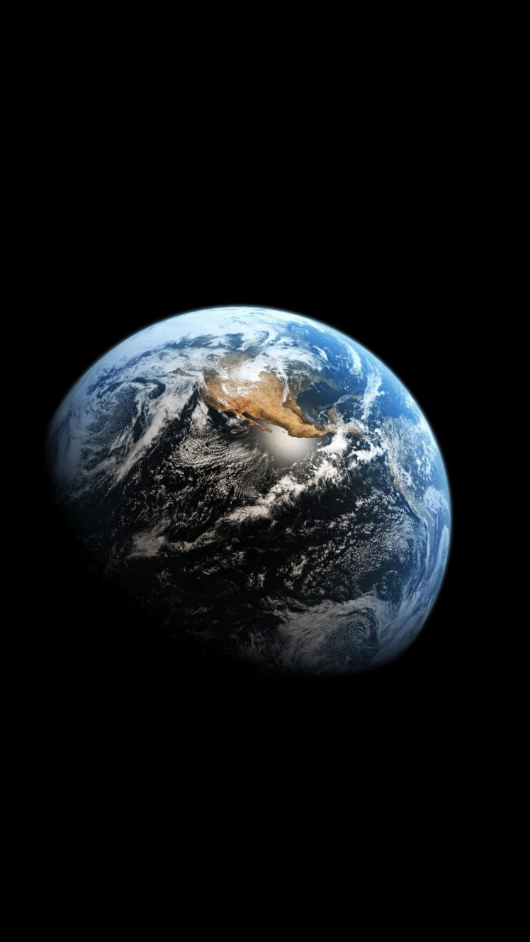 Earth Space Planet Portrait Display HD Wallpaper Desktop Background