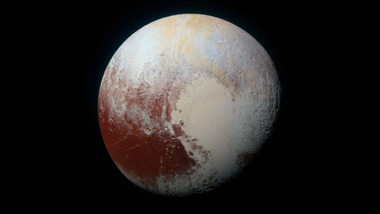 Pluto, Space, Minimalism HD Wallpaper Desktop Background