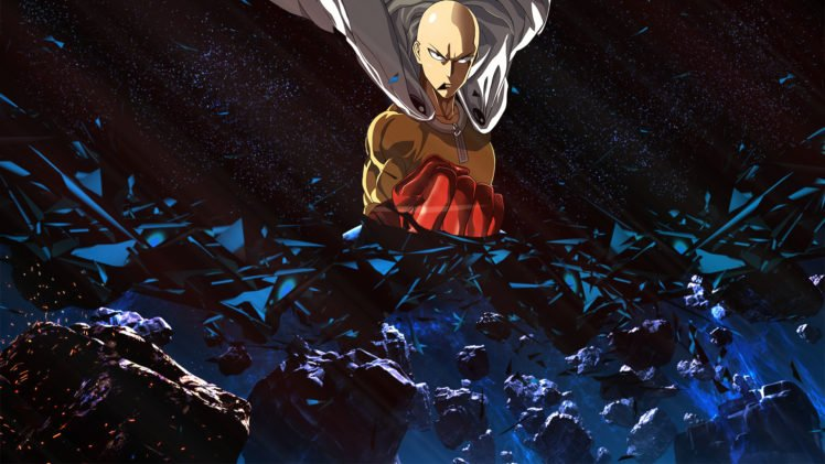 Anime One Punch Man Saitama Universe Space Power Suit Hd