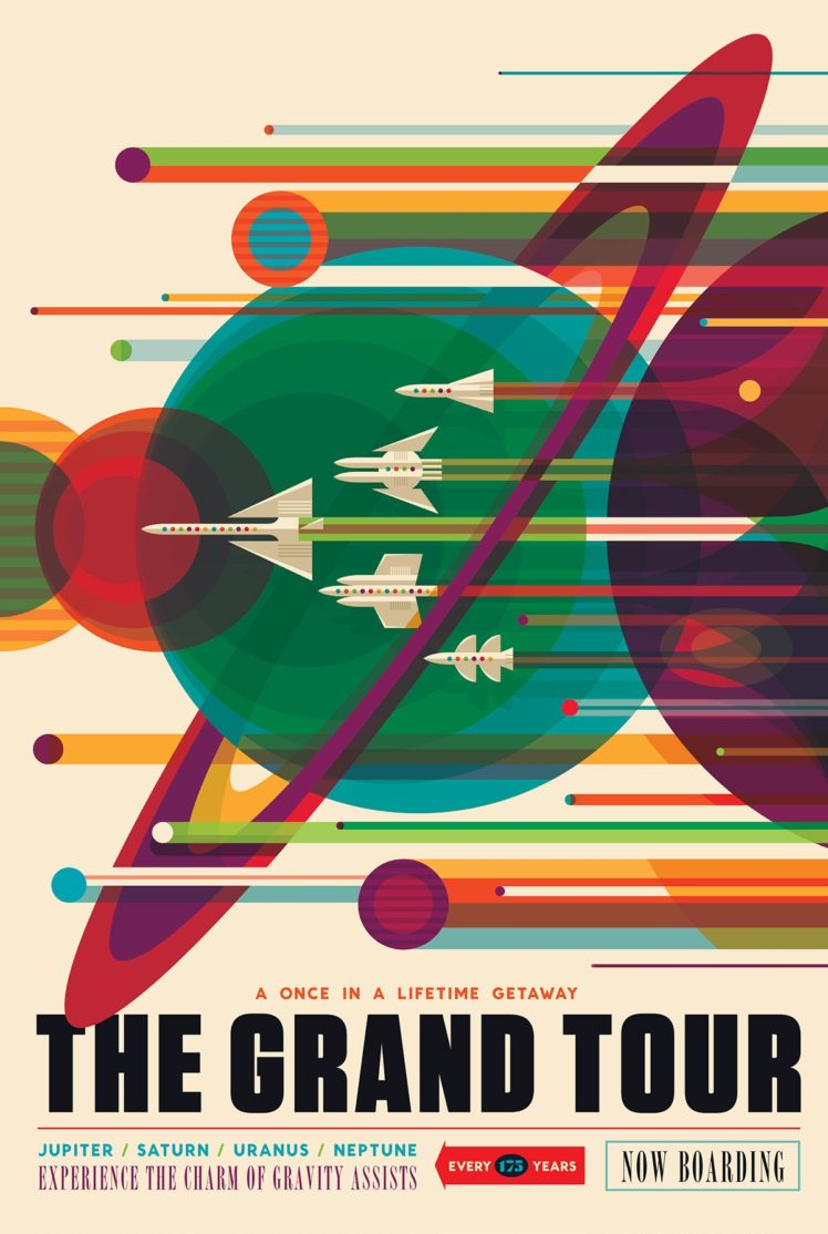 space, Planet, Material style, Travel posters, NASA, Science fiction, JPL (Jet Propulsion Laboratory) HD Wallpaper Desktop Background