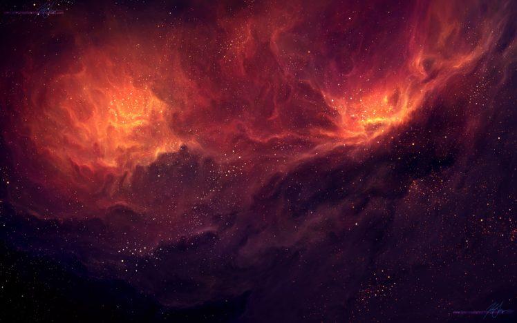 TylerCreatesWorlds, Space art, Nebula HD Wallpaper Desktop Background
