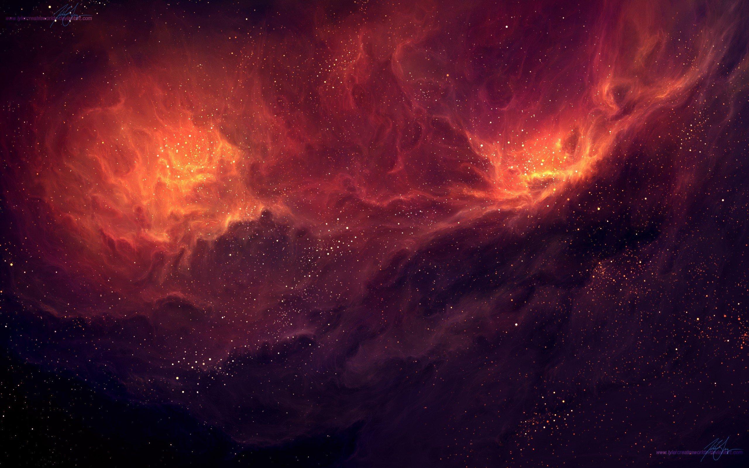 TylerCreatesWorlds, Space art, Nebula Wallpaper