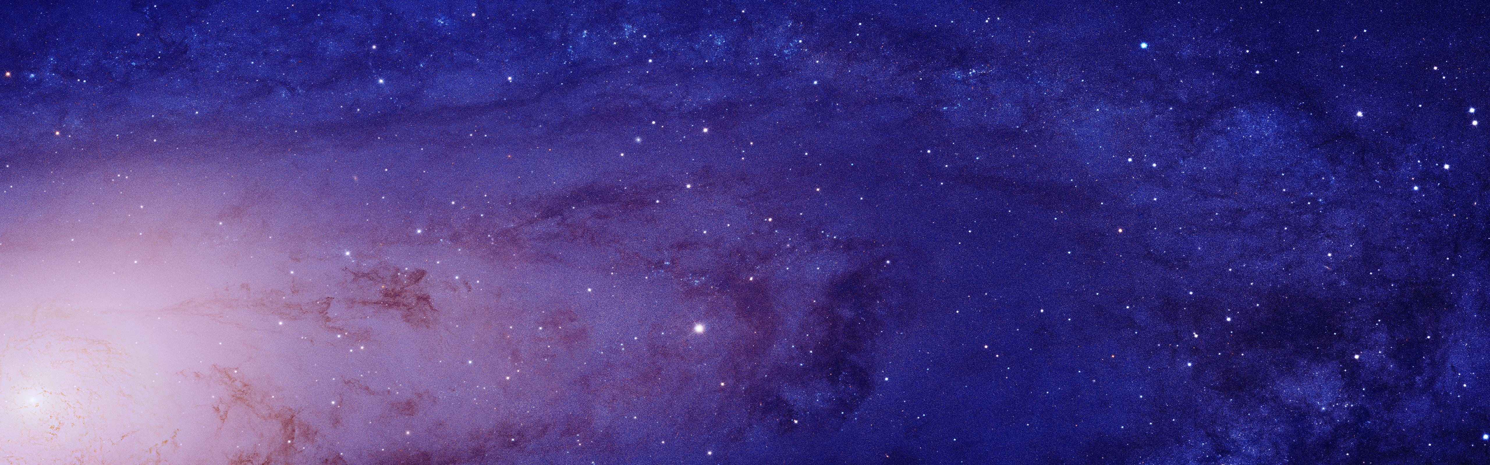 Andromeda galaxy space stars closeup multiple display - Dual monitor space wallpaper ...