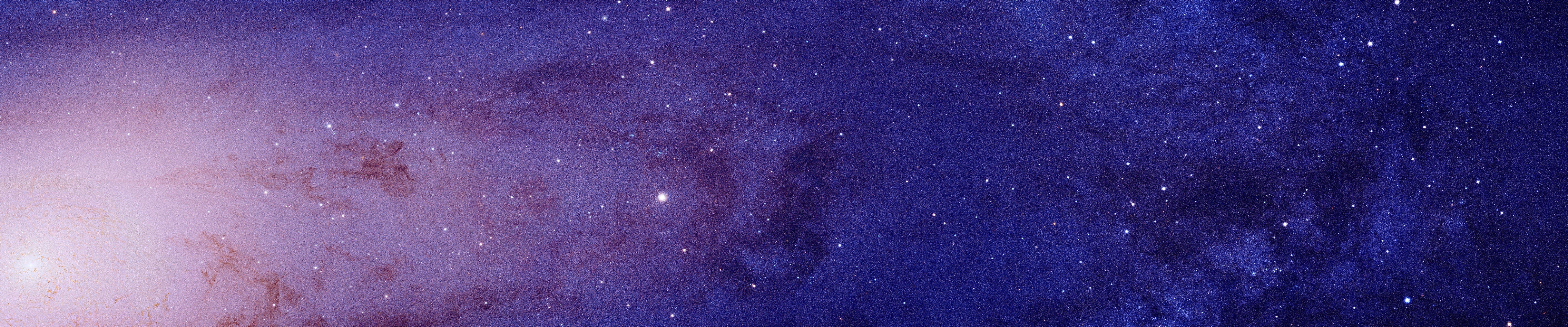 Andromeda, Galaxy, Space, Stars, Closeup, Multiple display, Triple screen Wallpaper