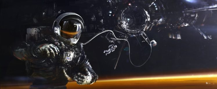 astronaut, Universe, Futuristic, Science fiction HD Wallpaper Desktop Background