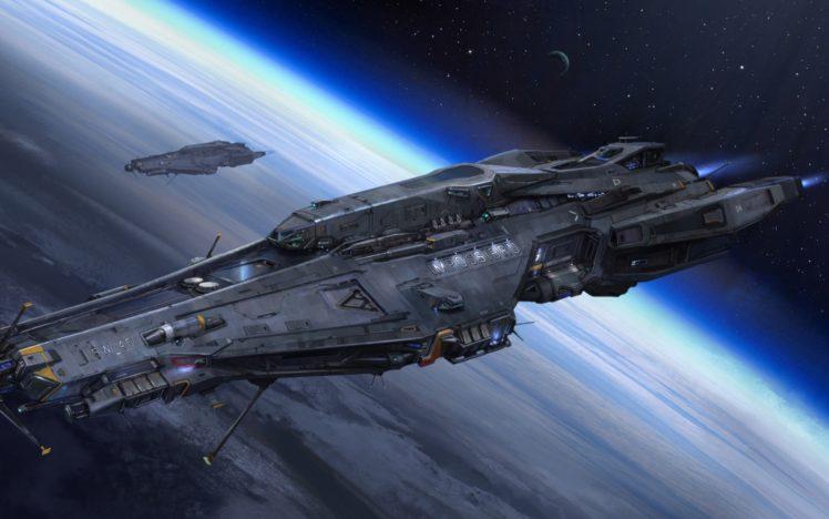 space, Ship, Planet, Futuristic, Science fiction HD Wallpaper Desktop Background